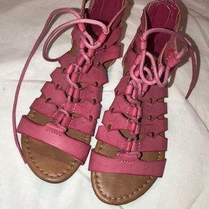 Link pink sandels size 1 girls EUC🌸🌸🌸🌸🌸🌸